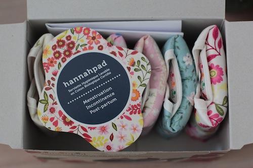 serviettes hygiéniques lavables Hannahpad
