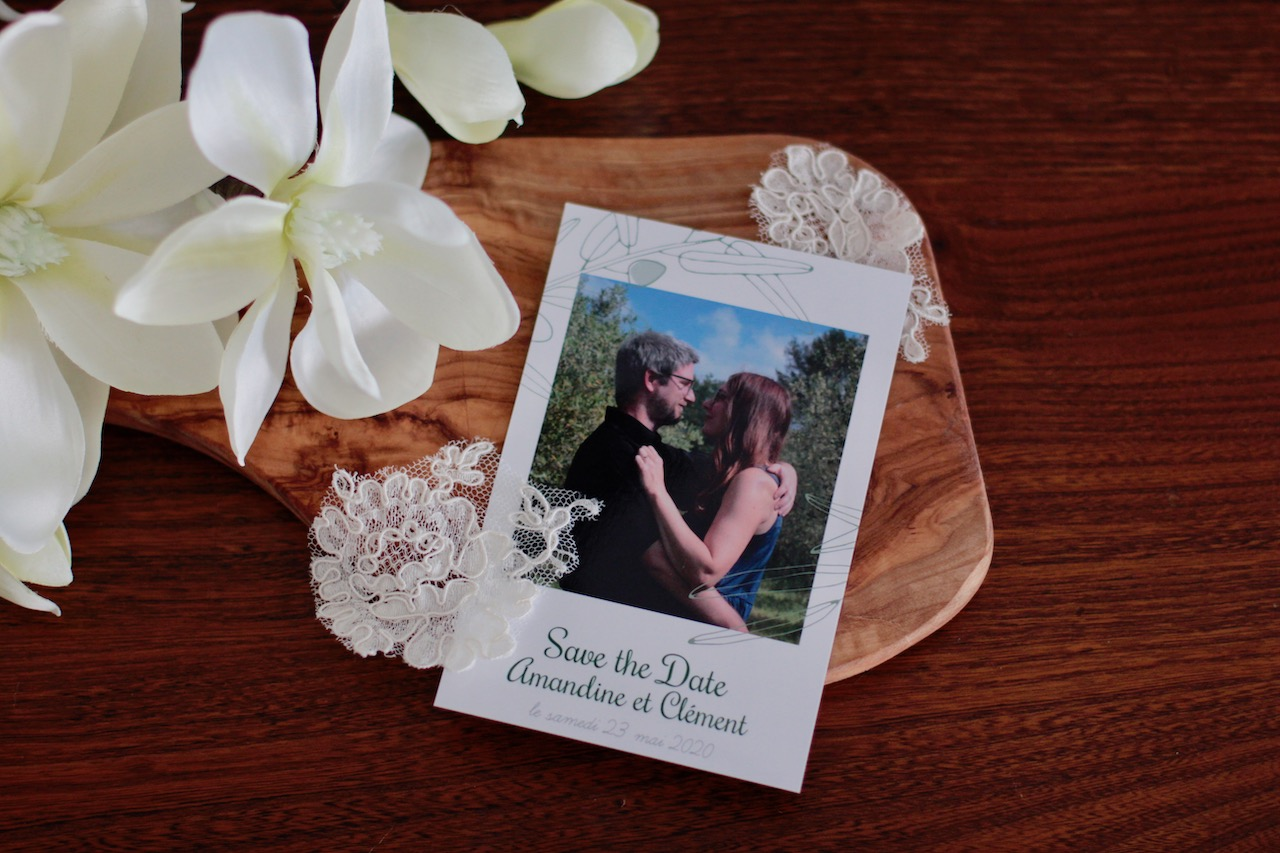 popcarte ; papeterie ; mariage ; save the date ; faire part