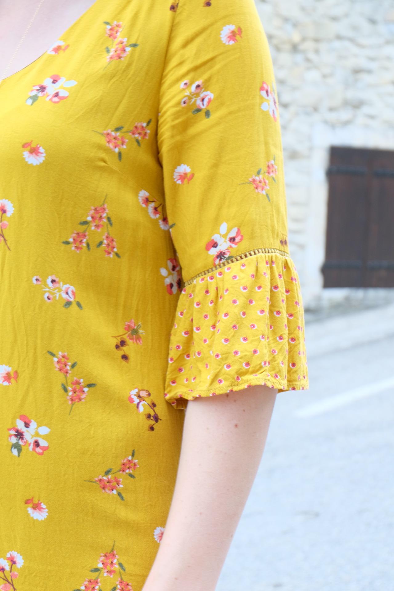 look ; motif ; automnal ; imprimé ; robe