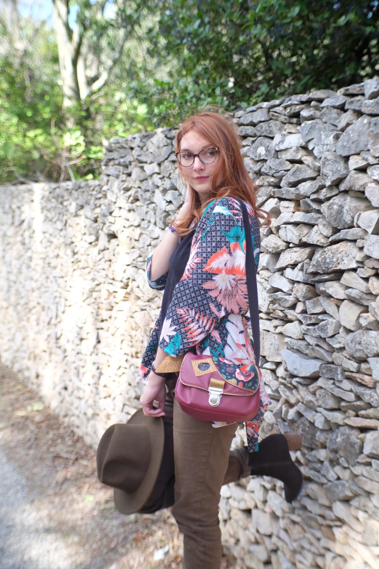kimono en automne ; look ; outfit ; camaieu