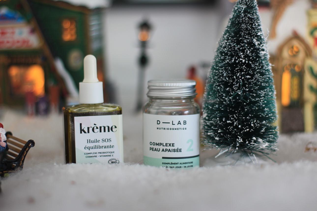 avoir une peau apaisée ; D-Lab ; Complément alimentaire ; Krème ; CBD ; cosmétiques naturelles